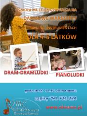 Darmowe warsztaty gry na instrumentach dla 4-5 latków